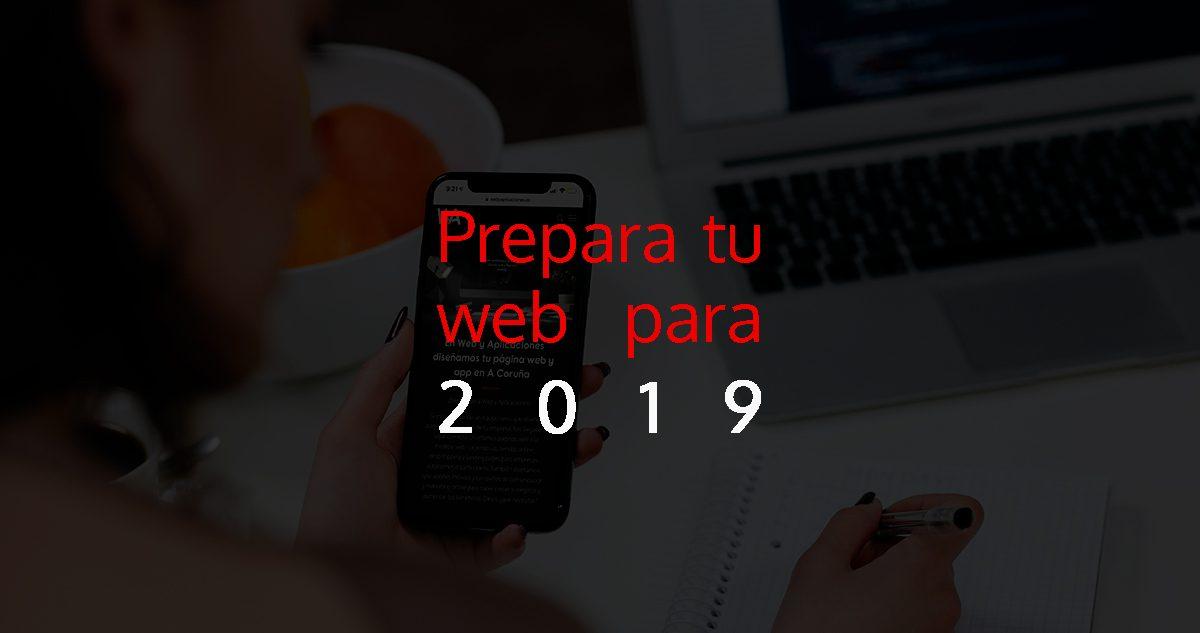 Página web para 2019 en Web y Aplicaciones