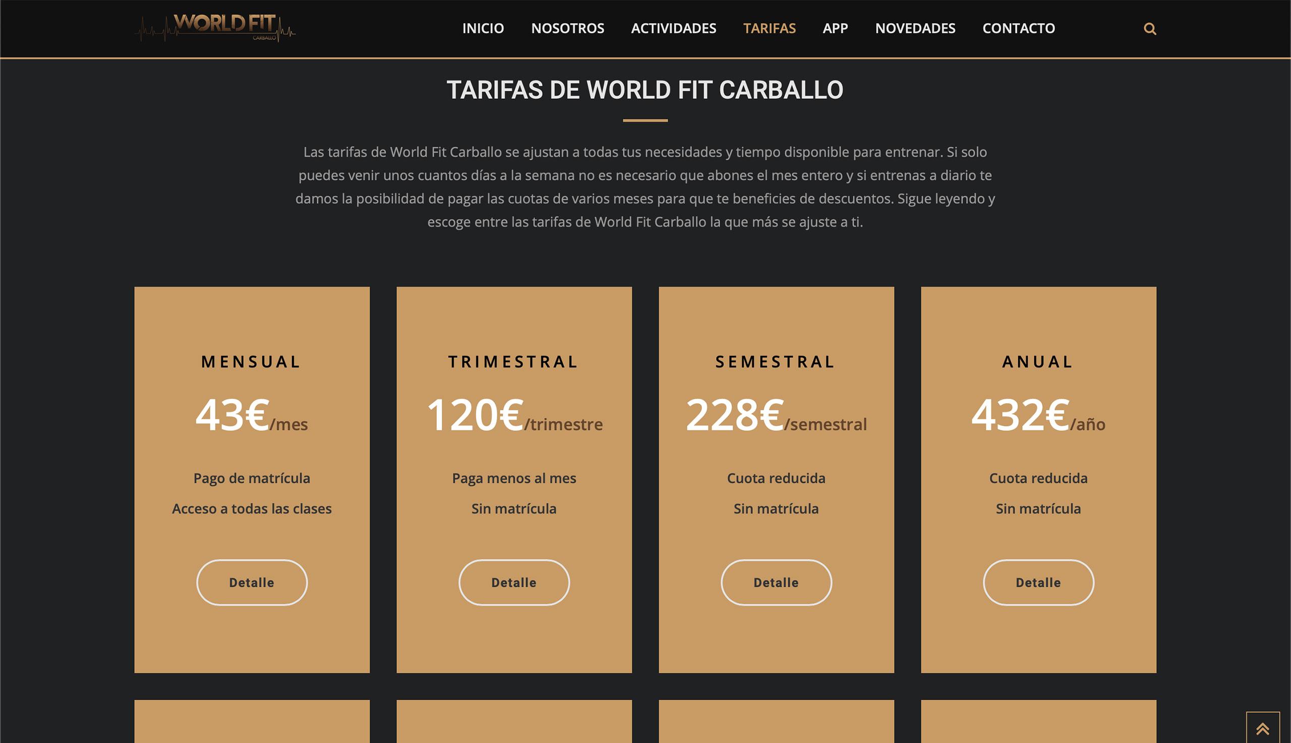 world fit carballo
